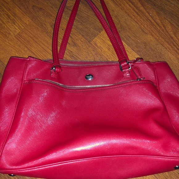 5aa2eacc3a Coach Bags | Red Leather Purse | Poshmark
